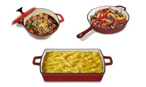 Heavy-Duty Cast Iron Frying Pan, Dutch Oven, or Baker