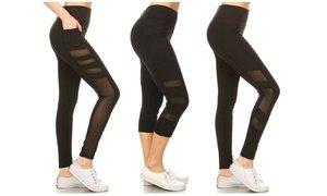 Women's High Waisted Capri and Full-Length Leggings (3-Pack)