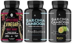 Apple Cider Vinegar with Garcinia Probiotics and Biotin (3-Pack)