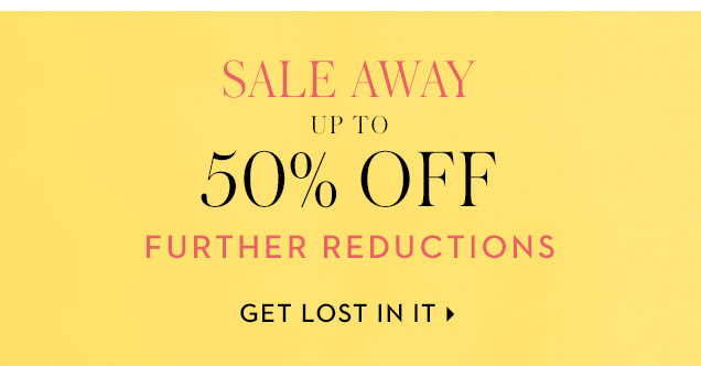 The up to 50% OFF SALE.