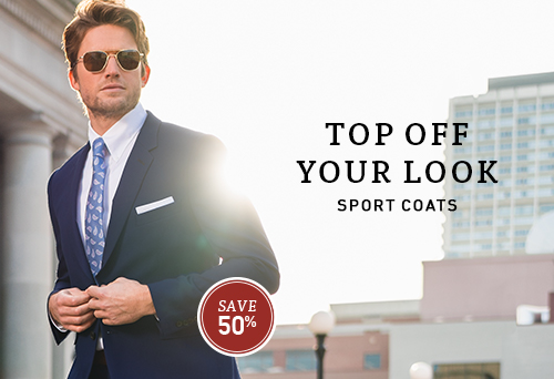 Top off your look with a sport coat.