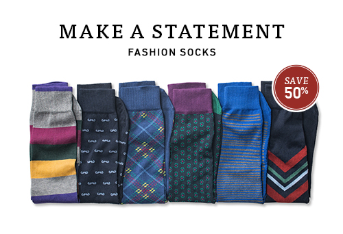 Make a statement with fashion socks.
