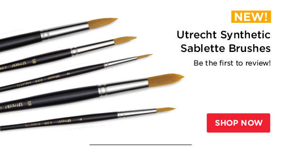 *NEW!* Utrecht Synthetic  Sablette Brushes - Be the first to review!