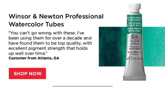 "Winsor & Newton  Professional Watercolor Tubes - ""You can't go wrong with these.  I've been using them for over a decade and have found them to be top  quality, with excellent pigment strength that holds up well over  time."" - Customer from Atlanta, GA"