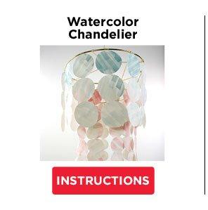 Watercolor  Chandelier