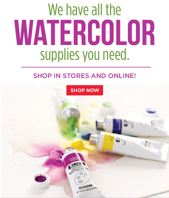 We have all the watercolor  supplies you need. Shop in stores and online!
