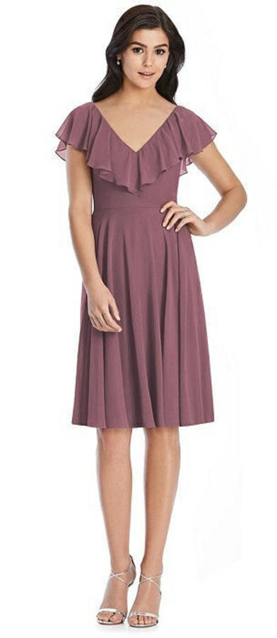 After Six 6796 - Lux Chiffon Dress in English Rose