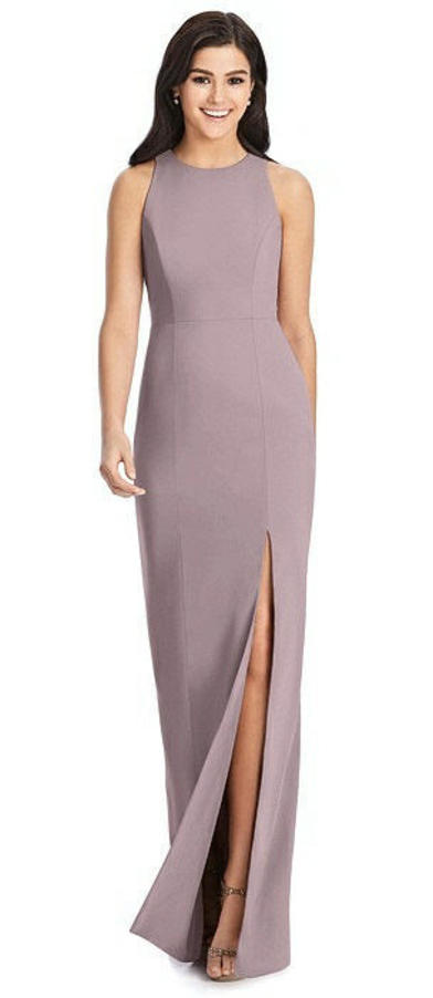 Dessy Collection 3029 - Crepe Halter Dress in Dusty Rose