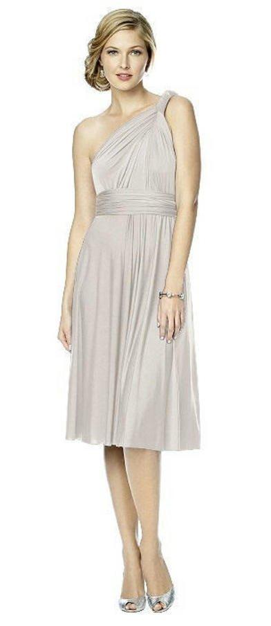 Maracaine Jersey Twist Dress in Oyster