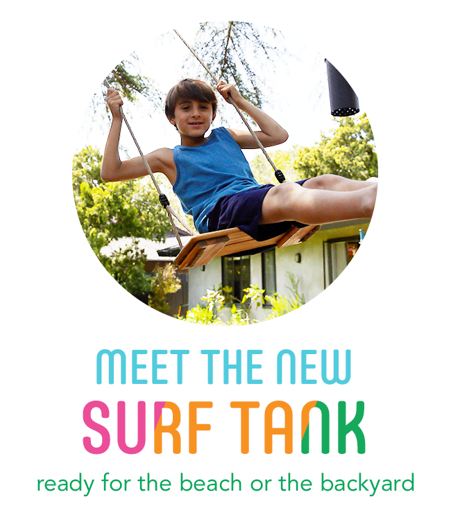 meet the new surf tank: ready for the beach or the backyard