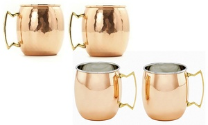 Moscow Mule Stainless Steel Mugs with Gift Box (2- or 4-Pack)