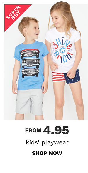 Super Buy - from 4.95 kids' playwear. Shop now.