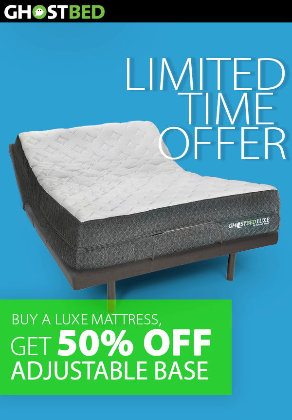 Limited Time Offer: Buy a Luxe Mattress and Get 50% Off An Adjustable Base Bed Frame