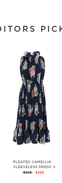 Pleated Camellia Sleeveless Dress