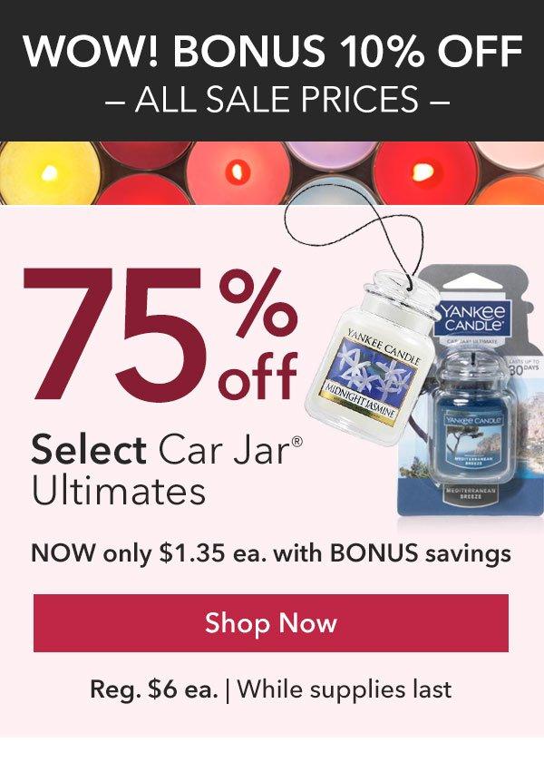 75% off Select Car Jar Ultimates
