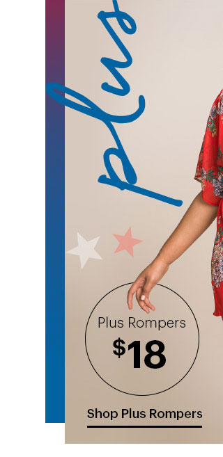 Plus Rompers $18 Shop Plus Rompers