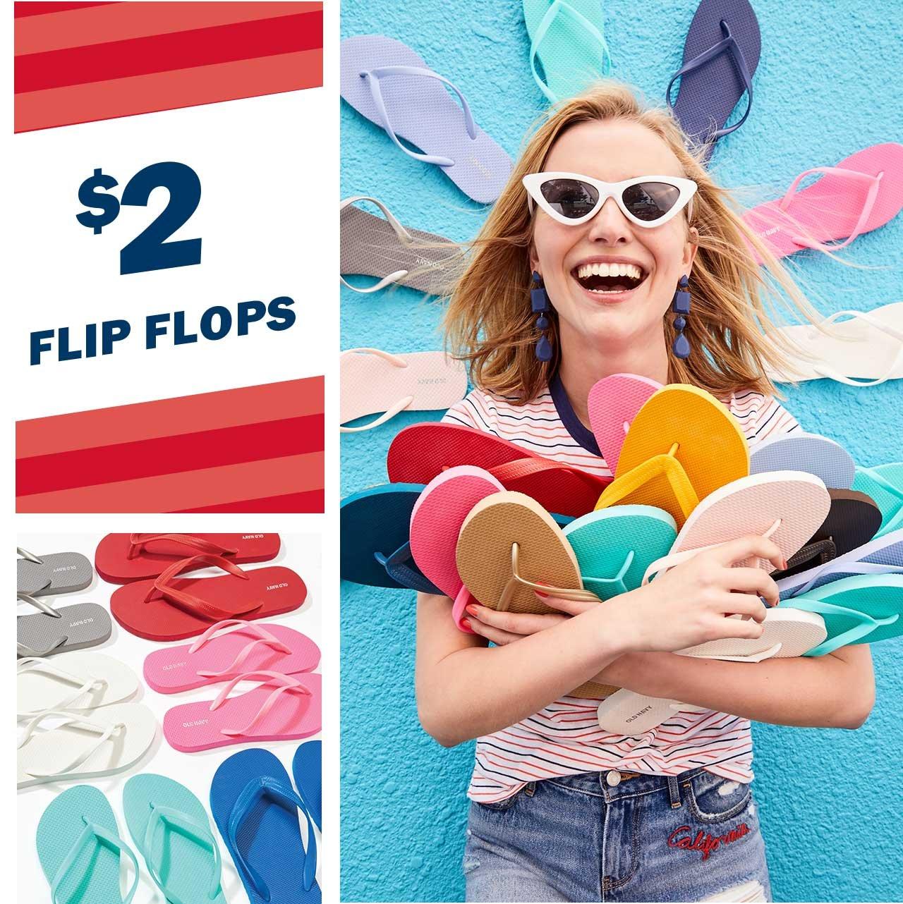 $2 FLIP FLOPS