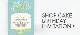 Shop Birthday Cake Invitation!!