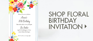Shop Floral Birthday Party Invite!