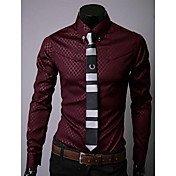 Men's Party Cotton Slim Shirt - Patchwork