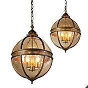 Ecolight 3-Light Globe Pendant Light Amb...