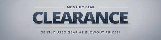 Clearance Deals on Used Gear!