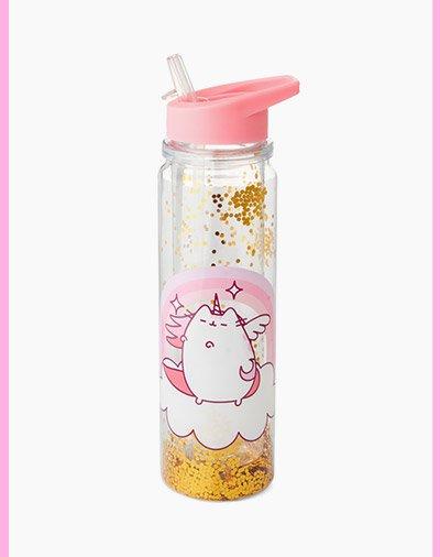 Pusheen Glitter Drink Bottle