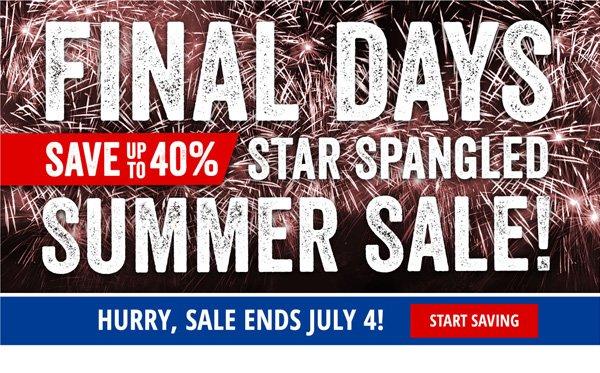 Final Days Star Spangled Summer Sale