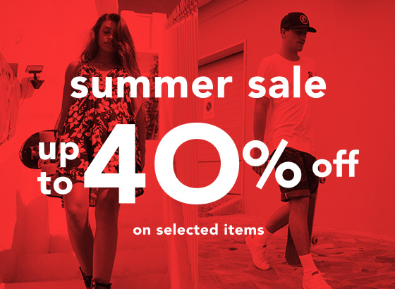 SUMMER SALE UP TO 40% OFF ON SELECTED ITEMS