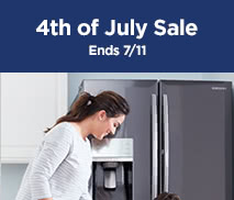 4th of July Sale | Up to 40% Off* Major Appliances, select styles | Ends 7/11