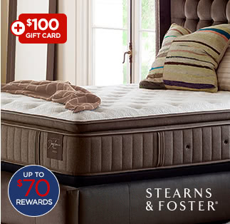 $1599 Stearns & Foster Ella Grace luxury firm euro pillow top queen mattress set after coupon* $1881.18 reg. $3450