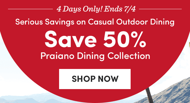 Save 50% Praiano Dining Collection