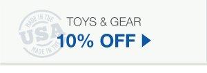 10% Off Toys & Gear