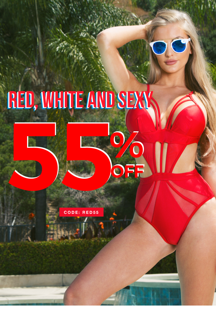 red white and sexy sale! shop now!