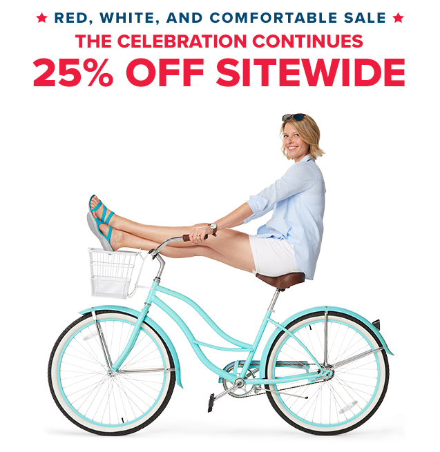 Red, White and Comfortable Sale - 25% Off Sitewide | Model wearing the Women's Swiftwater Sandal