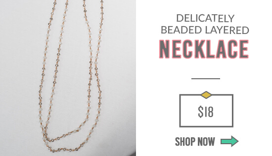 Delicately Beaded Layered Necklace