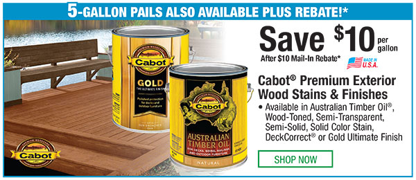 Cabot Premium Exterior Wood Stains & Finishes