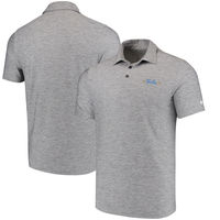 UCLA Bruins Under Armour Collegiate Elevated Heather Polo - Heather Gray