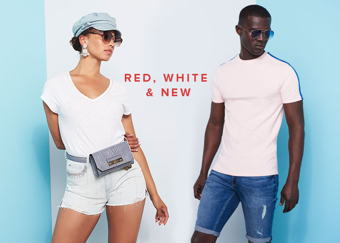 RED, WHITE & NEW