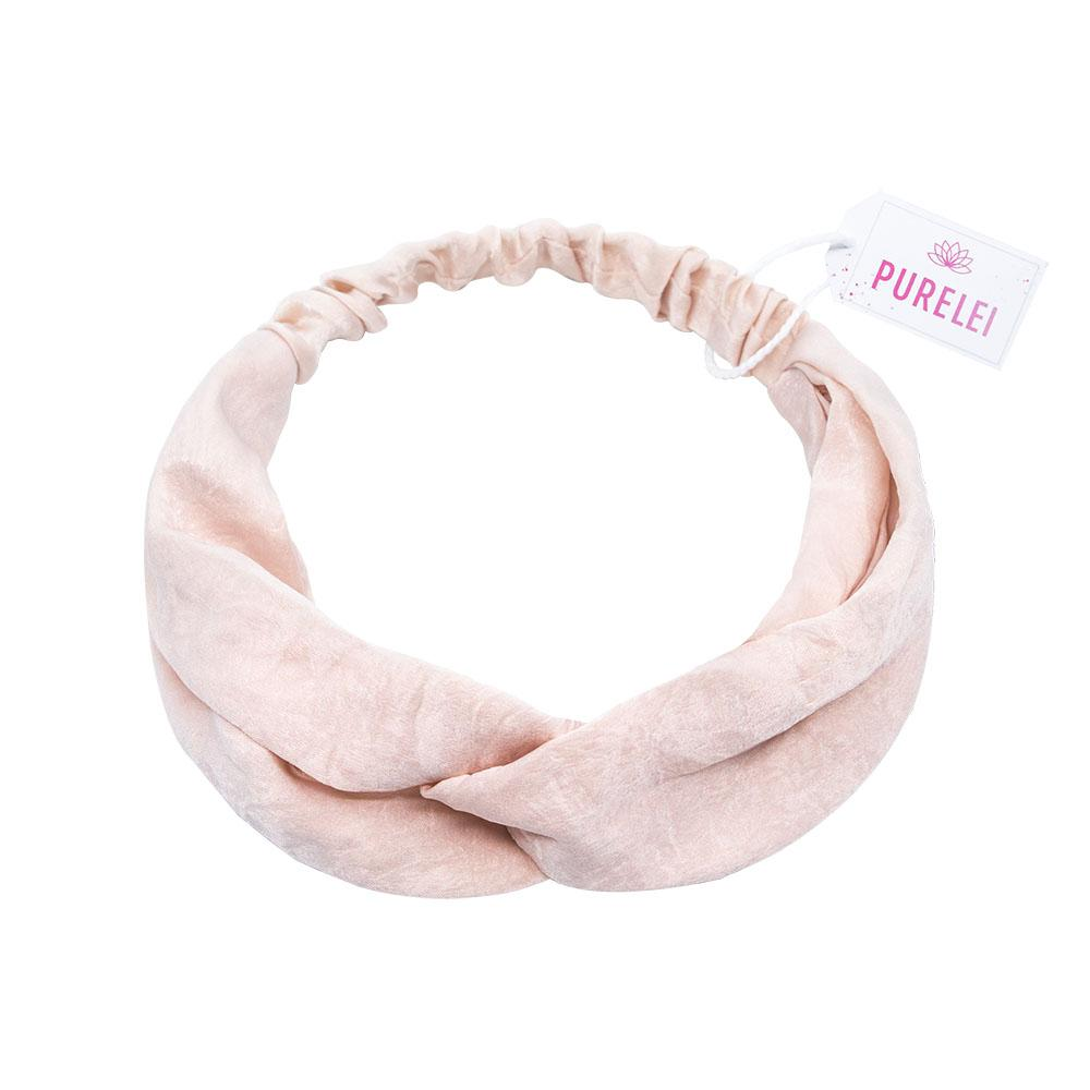 Image of Haarband Satin plain light pink