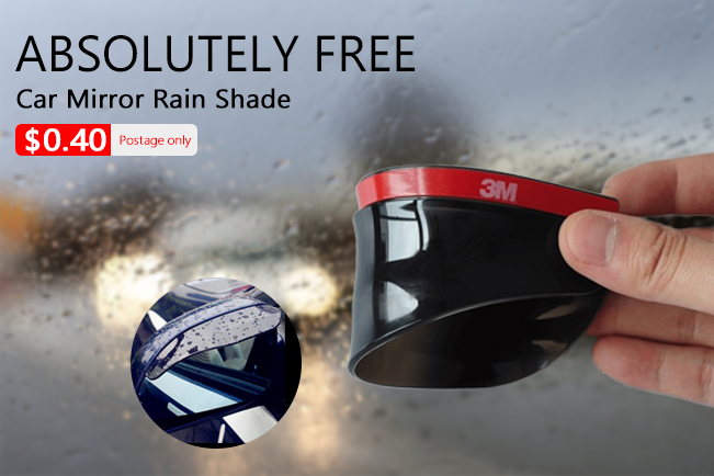 Freebie - 1 Pair Car Rear View Side Mirror Rain Eyebrow Board Sun Visor Shade Shield-WP1070781007235