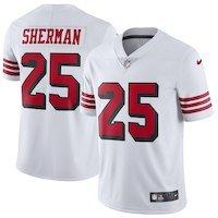 Nike Richard Sherman San Francisco 49ers White Color Rush Vapor Untouchable Limited Player Jersey
