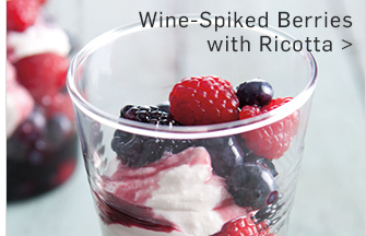 Wine-Spiked Berries with Ricotta