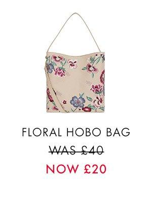 FLORAL EMBROIDERED HOBO BAG