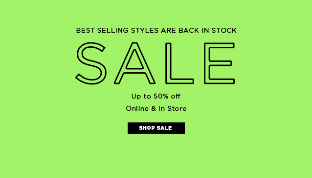 Sale Back in Stock