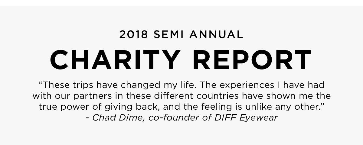 2018 Semi Annual Charity Report