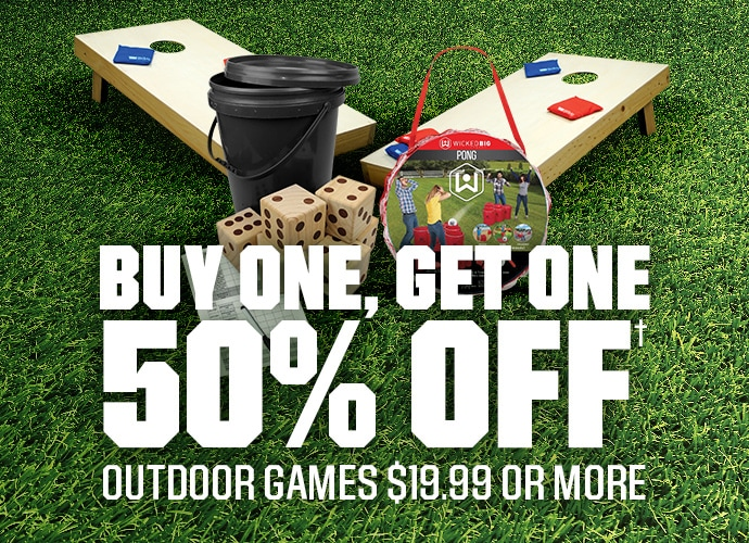 BUY ONE, GET ONE 50% OFF OUTDOOR GAMES $19.99 OR MORE | SHOP NOW