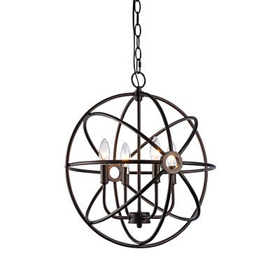 IRONCLAD Industrial-style 4 Light Rubbed Bronze Ceiling Pendant 16