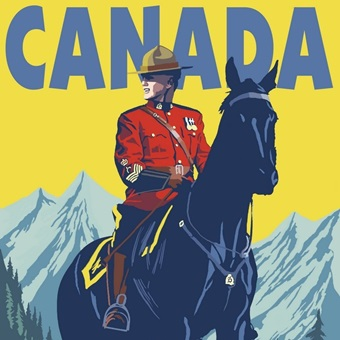 Equestrian - Royal Canadian Mounted Police by Lantern Press