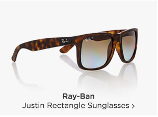 Shop Ray-Ban Justin Rectangle Sunglasses